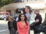 Katie Couric And Eva Longoria Filming In Hollywood