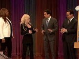 Late Night With Jimmy Fallon Charades With Queen Latifah And Dolly Parton, Part 1