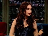 Late Night With Jimmy Fallon Lily Collins
