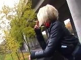 Michelle Smoking In Leather Pants - FULL VIDEO.flv