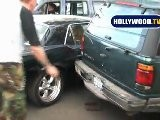 Miley Cyrus And Nick Jonas In Fender Bender