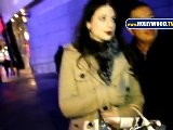 Michelle Trachtenberg Poses With Fans At Staples Center
