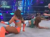 Mickie James & Velvet Sky Vs. Angelina Love & Sarita