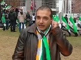 Mustafa Arab, Protesting Against The Syrian Regime In Toronto, Discusses The Series Of Protests Taking Place All Over Canada And What