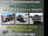 New RAM 1500 Anaheim, Orange County, Norwalk, Downey - 2012 Truck - Call 1.800.549.1084