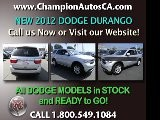 New DODGE DURANGO Anaheim, Orange County, Norwalk, Downey - 2012 SUV - Call 1.800.549.1084