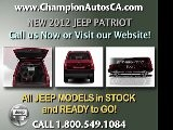 New JEEP PATRIOT Anaheim, Orange County, Norwalk, Downey - 2012 SUV - Call 1.800.549.1084