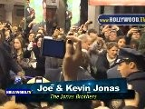 Nick Jonas, Joe Jonas, Kevin Jonas, Delta Goodrem, Beau Bridges In Broadway