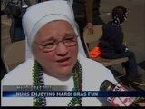 Nuns Enjoying Mardi Gras Fun