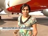 NDTV Visits India Aviation 2012 In Hyderabad