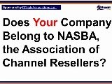 NASBA - The Association Of Channel Resellers Glossary Definition Screencast