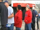 People From All Over Come To Wait In Line At James Brown Arena For Elton John Tickets