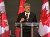 Prime Minister Stephen Harper Addresses A Business Audience In Guangzhou, China