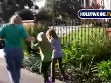 Miley&#039 S Little Sister Noah Rolls On Hannah Montana Skates