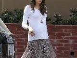 Pregnant Model Alessandra Ambrosio Does The School Run In Style