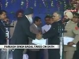 Parkash Badal Takes Oath As Punjab Chief Minister