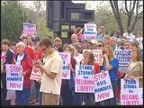 People Speak Out At Rally For Religious Freedom In South Bend