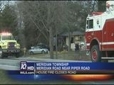 Road Back Open After House Fire In Meridian Twp