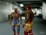 Smackdown Vs RAW 2006 - Kurt Angle And Hulk Hogan Backstage