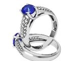 Starry Night Ring Oval Sapphire Diamond Ring