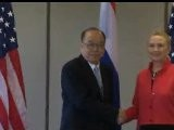 Secretary Hillary Clinton Bilateral Meeting With Thai Foreign Minister At APEC 2011