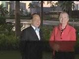 Secretary Hillary Clinton Greets Hong Kong Chief Executive