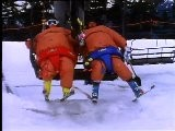 Sumo Suits In Snow-Wrestling Skiing By Warren Miller