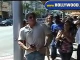 Sylvester Stallone Walking Around In Beverly Hills