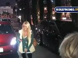 Stephanie Pratt Has Dinner With A Friend At Andaz