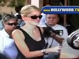 Sharon Stone Eats Lunch With Friends At Il Pastaio