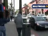 Samantha Ronson Gets Chased By Paparazzi