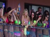 Selena Gomez And Vanessa Hudgens On Spring Breakers Set