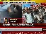 Scuffle In Bangalore Court Premises: Lawyers Assault Mediapersons