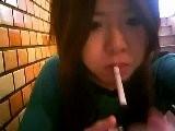 Smoking Asian Girl 25