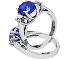 The Moon Ring - Oval Sapphire And Diamond Ring