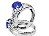 The Oval Starry Night Sapphire Diamond Ring