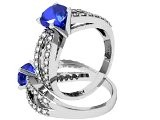 The Union Ring - Round Sapphire And Diamond Ring
