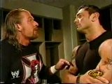 Triple H And Batista Backstage - RAW 11.15.2004