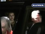 Tim Burton, Helena Bonham Carter & Alan Rickman Leave The IVY