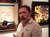 The HUNTING BLIND W DAEL AT ART SHOW AS HE REVEALS HIS NEW PAINTING
