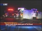 Two Early Morning Accidents Shut Down Toll Road