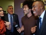 The Tonight Show With Jay Leno Backstage: Jay Arsenio Hall Lily Collins