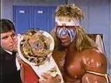 WWF Champion Ultimate Warrior & Macho King Randy Savage Sensational Queen Sherri Promos