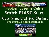 Watch BOISE ST. NEW MEXICO Game Online | NEW MEXICO Vs. BOISE ST. Football Live Streaming