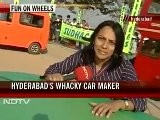 Wacky Cars On Show In Hyderabad