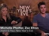 Zac Efron And Michelle Pfeiffer Talk Improv And Scene Crashing In New Year&#039 S Eve