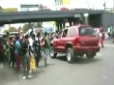 SUV Plows Through Student Protest In Mexico