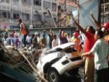 Overpass Collapses Over Moving Traffic In India