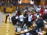Brawl Breaks Out In South Africa Parliament