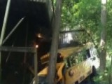 14 Students, Driver Injured After Bus Crashes Into House